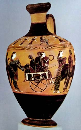 Athens Greece Amasis Painter Attic Black Figure Vases 600bc Amphorae