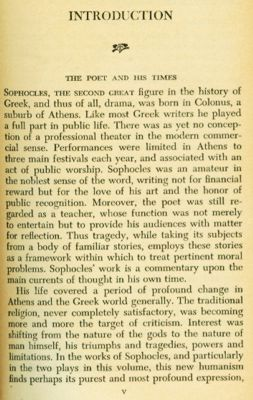 A moral struggle with profound disappointment in oedipus the king by sophocles
