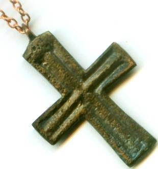 Byzantine medieval christian bronze cross pendant ad999 ebay handsome genuine ancient roman byzantine christian bronze cross pendant tenth century ad mozeypictures Images