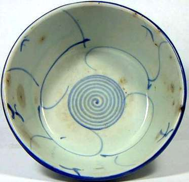 Very Nicely Preserved Cute Beautiful Genuine 18th Century Qing Dynasty Chinese Blue And White Ming Porcelain Bowl
