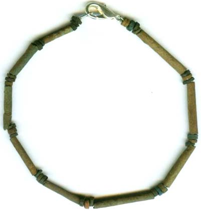 Bc600 Ancient Egypt Turquoise Color Faience Ceramic Proto Glass Bracelet Jewelry Ebay