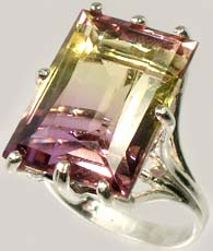 Natural Bolivian Ametrine Ring